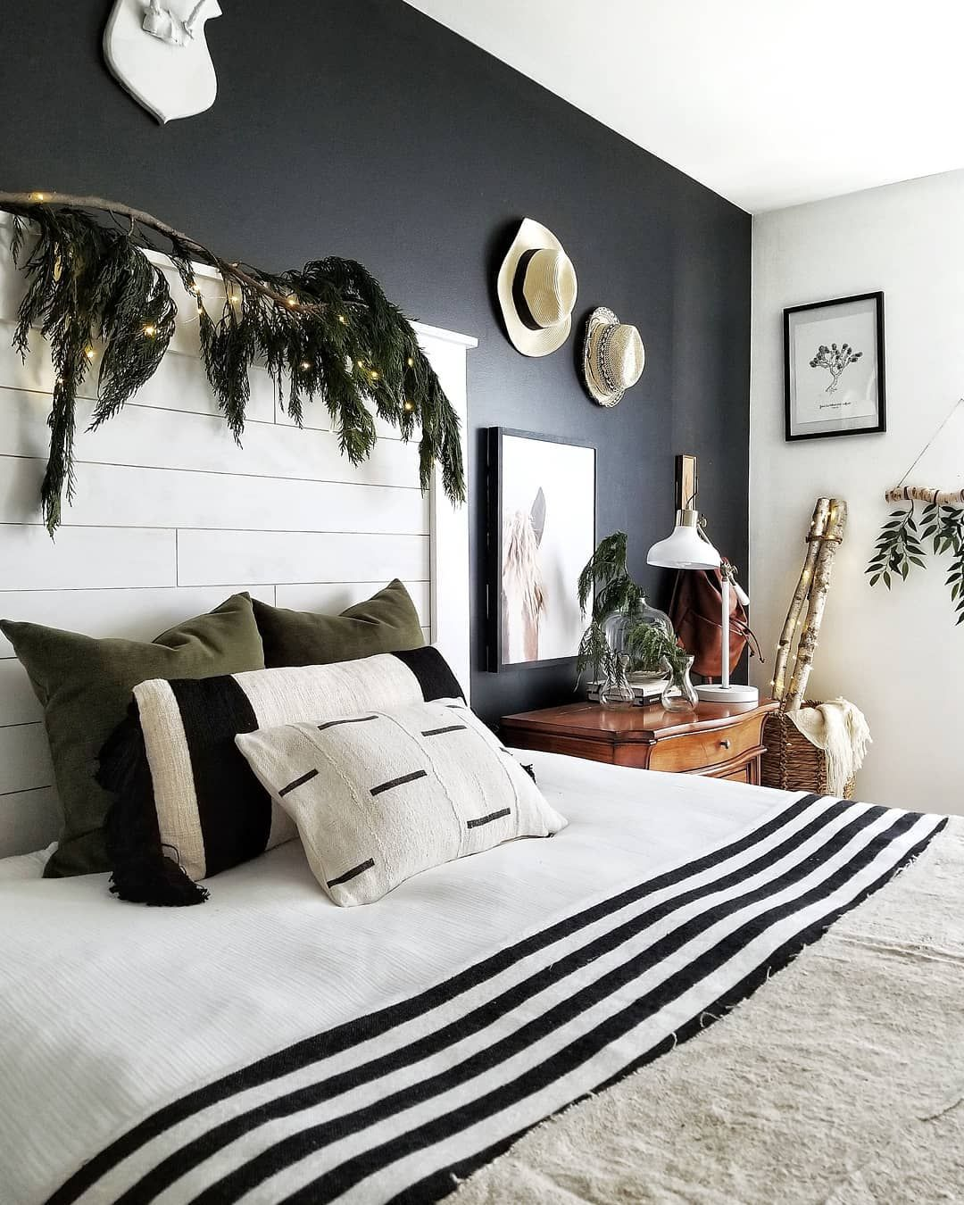 Painting my bedroom wall black was one of the best design risks I