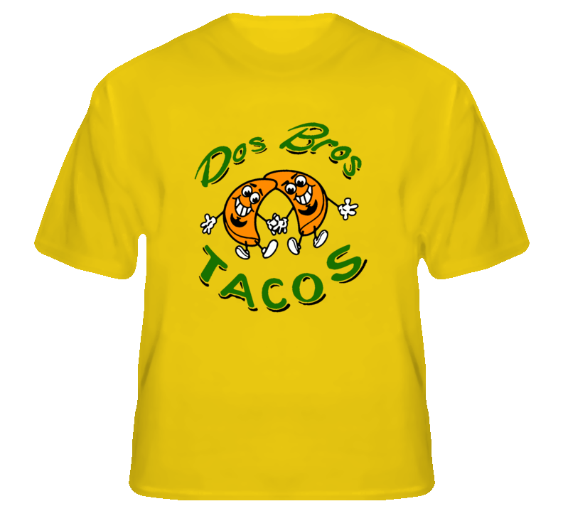 21cf4fd3 Dos Bros Tacos Tito Turbo Snails Unisex Yellow Adult T-Shirt S-XL ...