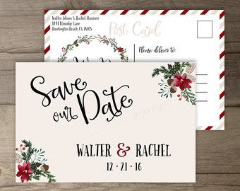 Winter Wedding Invitations Wreath Tis The Season To Be Married Diy Printable Invitationssave Date
