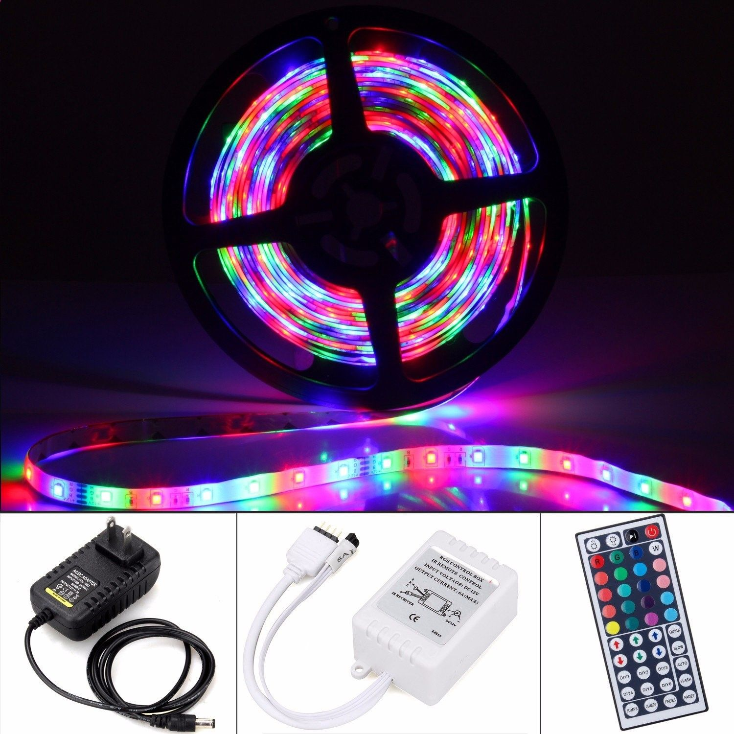 12V Waterproof Led Light Strips Brilliant Sokani Waterproof Led Strip Lights164Ft 300 Leds Color Changing Decorating Inspiration