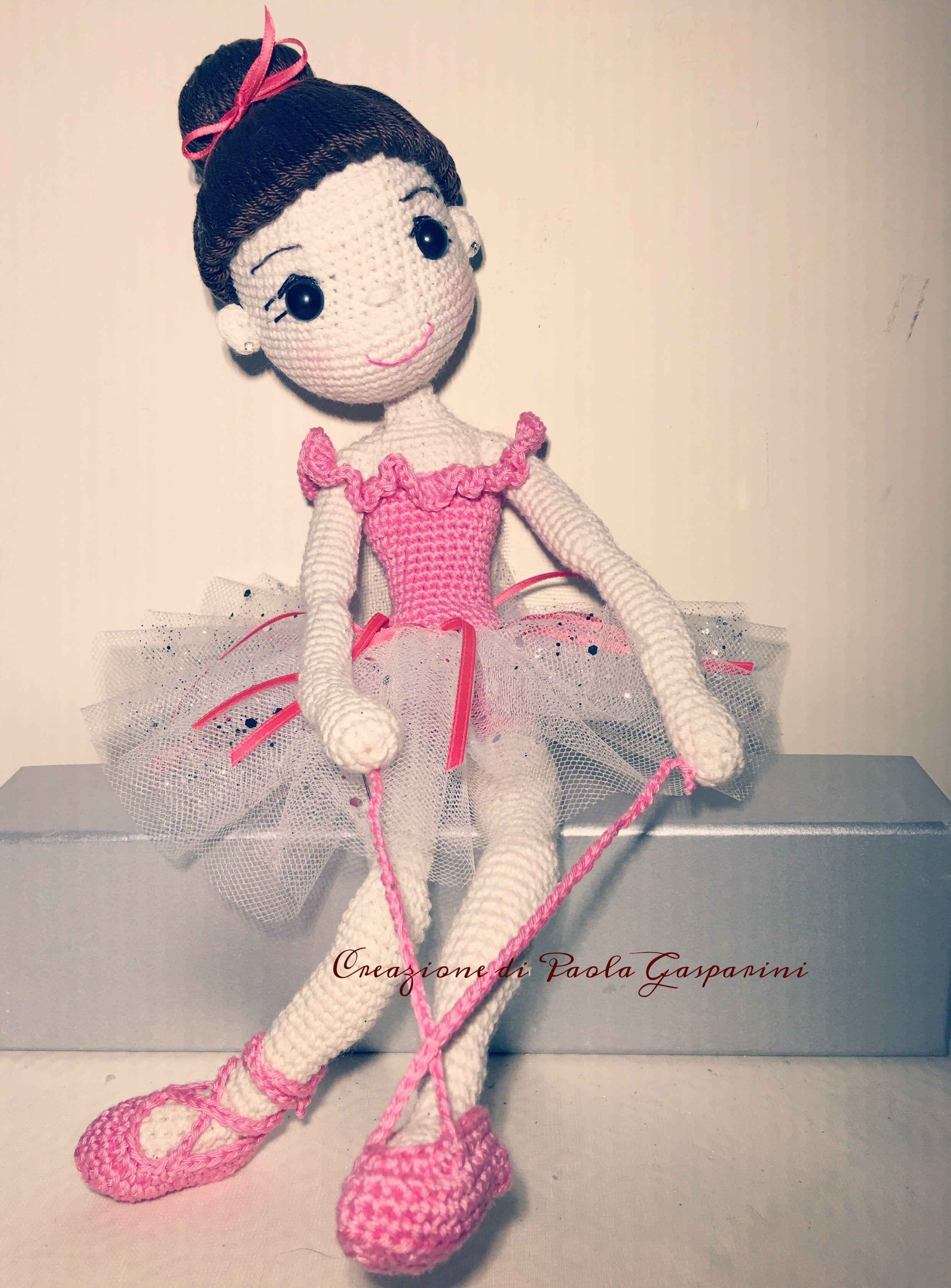 Anna Doll Dancer Ballerina Anna amigurumi Rif.:http://tinyminidesign.blogspot.it/2016/09/amigurumi-balerin-bebek-yapls-amigurumi.html?m=1