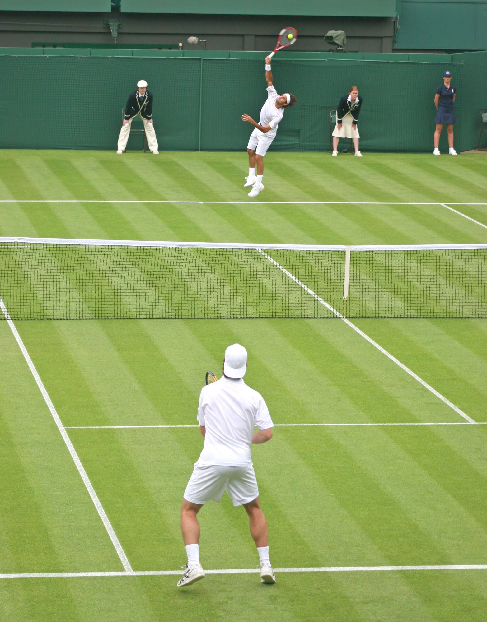 A Singles Tennis Match in the UK. Tennis match, Tennis