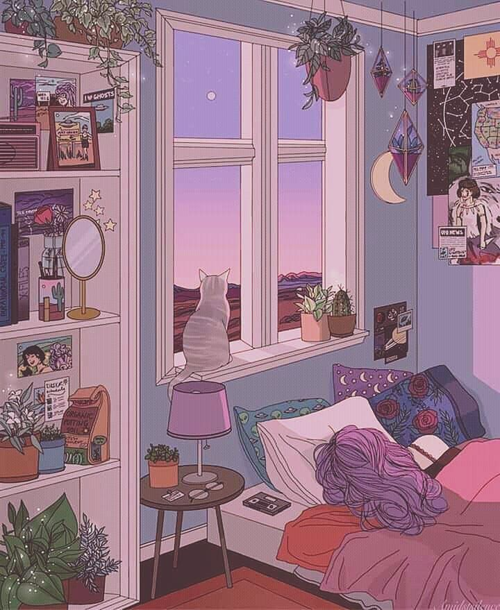 Image result for aesthetic pastel bedroom | Cute art, Art ... on Room Decor Ideas De Cuartos Aesthetic id=30964