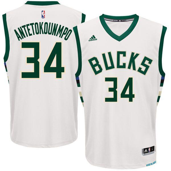 Giannis Antetokounmpo Milwaukee Bucks adidas Home Replica Jersey - White -   55.99 38da5e57c