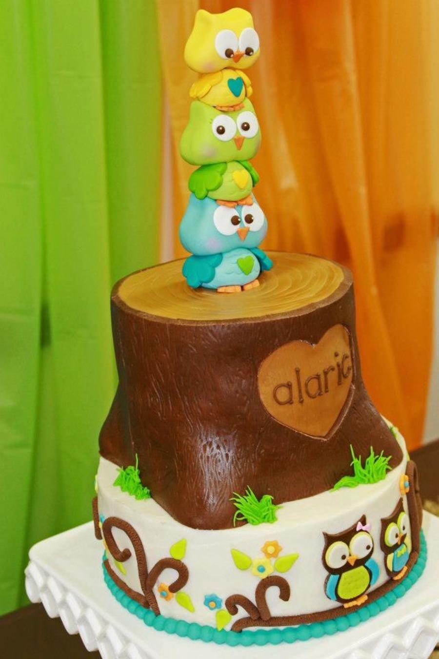 gumpaste owl cake topper 1st Birthday Ideas Pinterest Owl cake