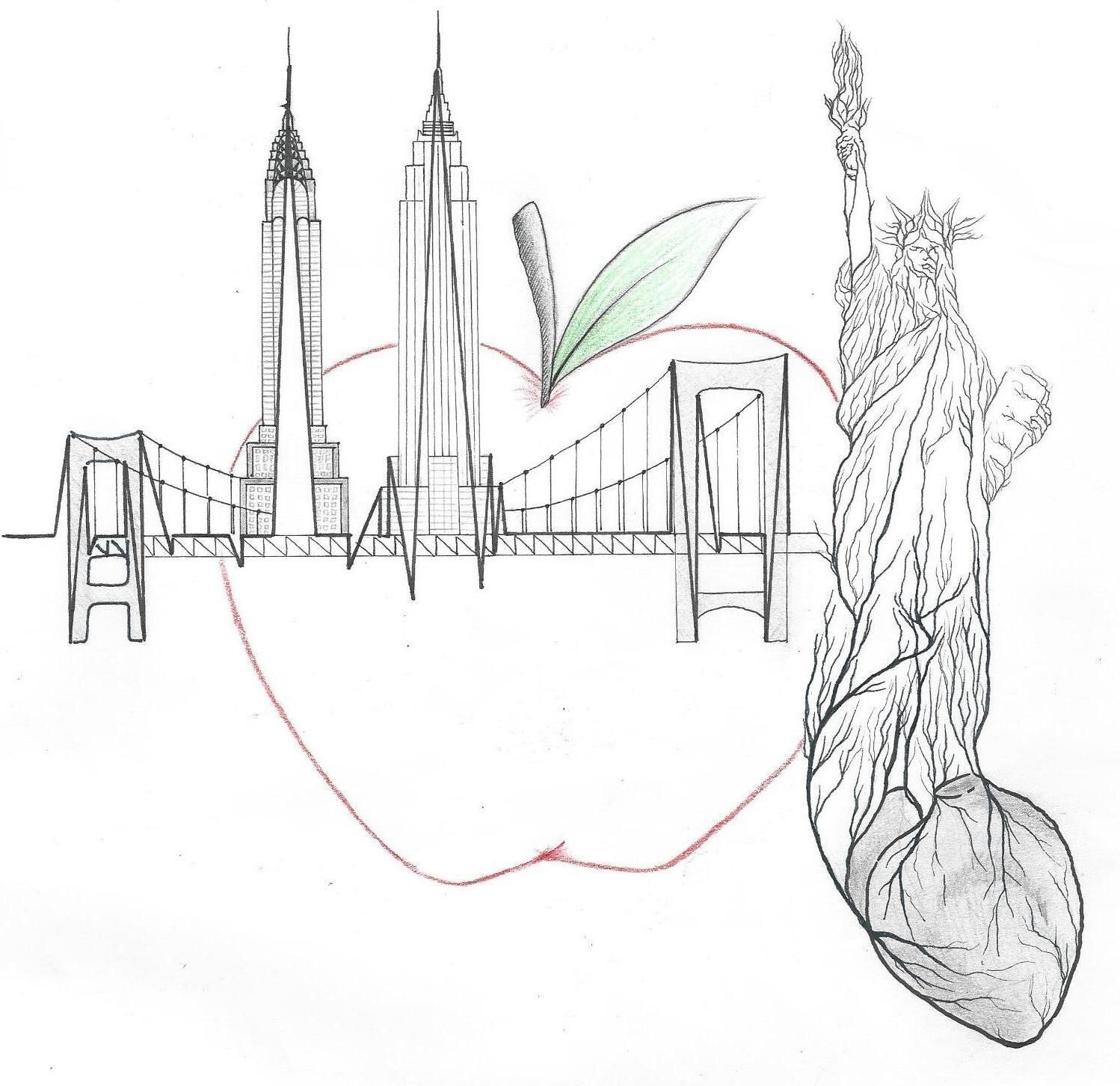 """""""New York City"""" A Sharpie and Micron pen tattoo design ..."""