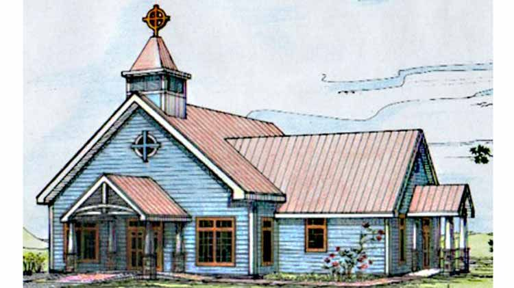 Small Church Building Plans | Churches in 2019 | Country style house