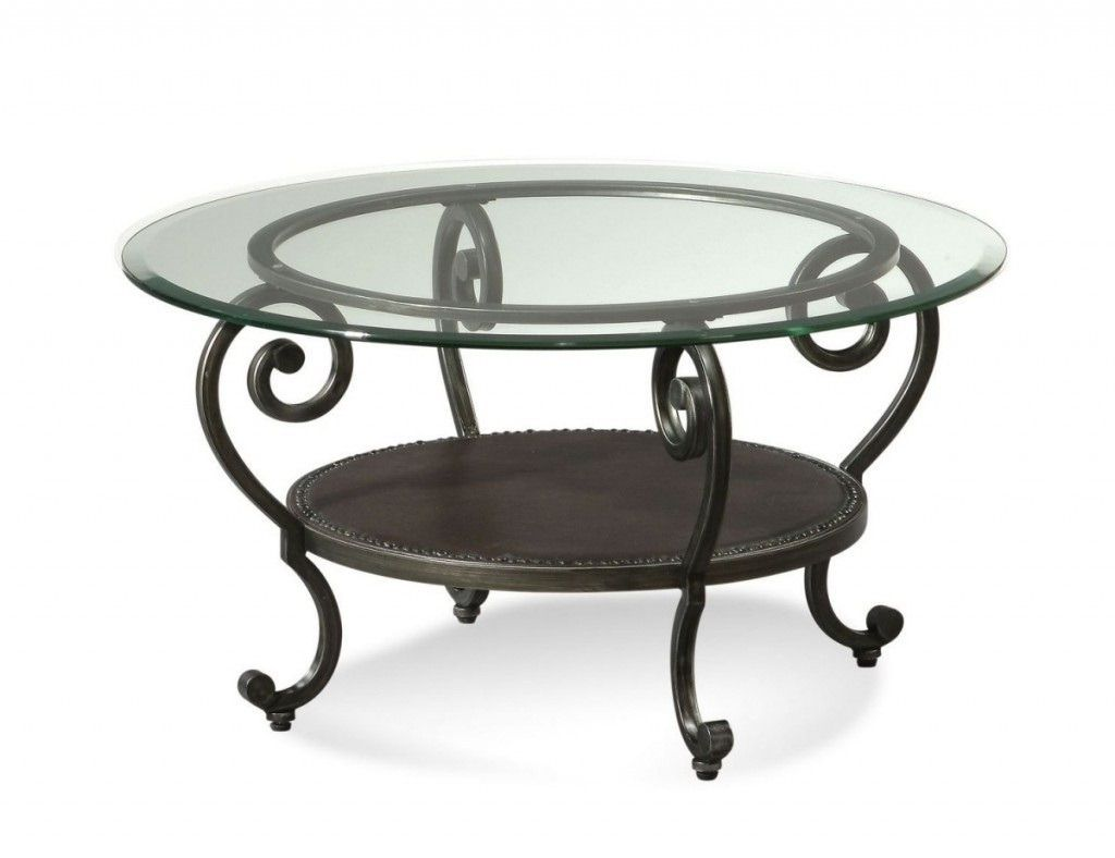 100 Round Glass top Coffee Table Wrought Iron Best Bedroom