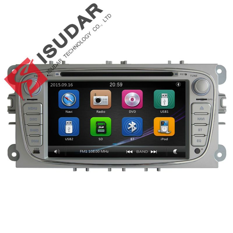 Two Din 7 Inch Car DVD Player For FORD Mondeo S-MAX C-MAX Galaxy FOCUS 2  Radio FM GPS Navigation 1080P Ipod Free Map 0aa83a0d6666