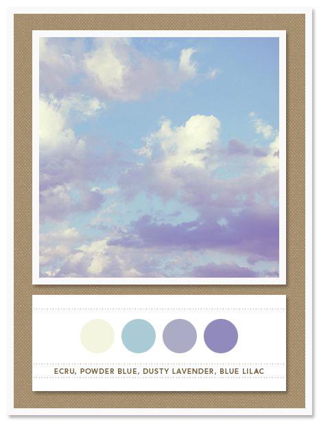 color card 039 ecru powder blue dusty lavender blue lilac