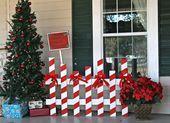 Voici 12 magnifiques décorations de Noël, faites de palettes de bois récupérées! #decorationnoelfaitmainenfant