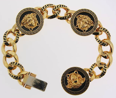 Versace Jewelry for Men Gianni Versace Medusa Chain Link Bracelet