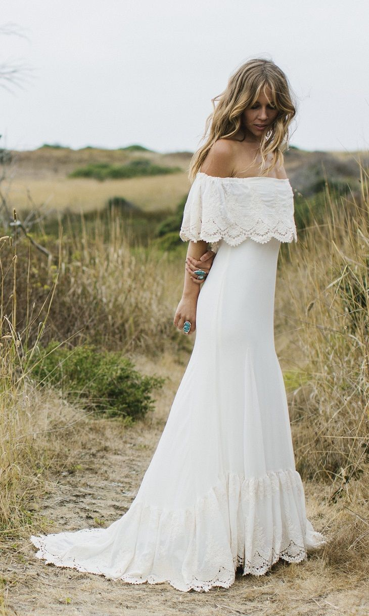 bohemian wedding dress - Laid Back Wedding Dress For Laid Back Bride | itakeyou.co.uk #casualweddingdress #weddingdress #weddingdresses #simpleweddingdress #weddinggown #bridalgown bohoweddingdress #bohemian #casual #laidback