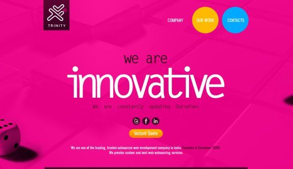 21 awesome bright and colorful websites web design pinterest rh pinterest com