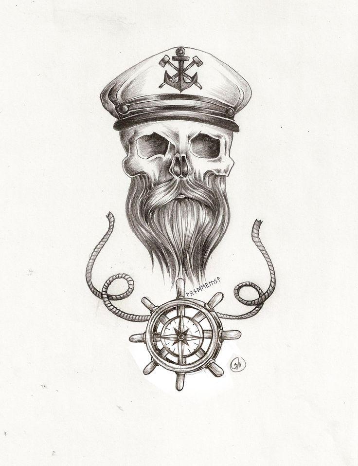 draw tattoo skull sailor - Pesquisa Google | Tats | Pinterest ...