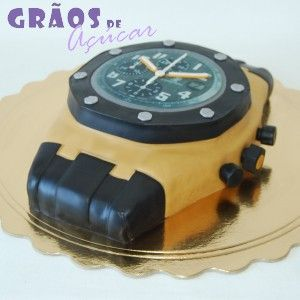 Relógio Esculpido - Grãos de Açúcar - Bolos decorados - Cake Design ... 0c1d5bfedb