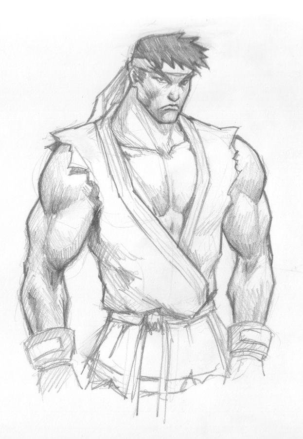 How To Draw Ryu Street Fighter Dibujos Videos Video Juego
