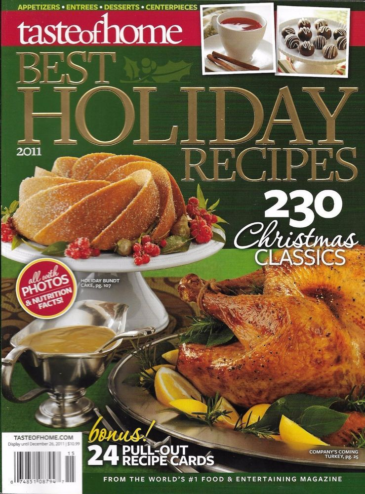 Taste Of Home Magazine Best Holiday Recipes Christmas Appetizers