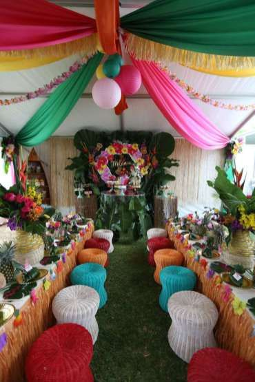 Hawaiian Theme Birthday Party Venue Birthday Theme Decorations