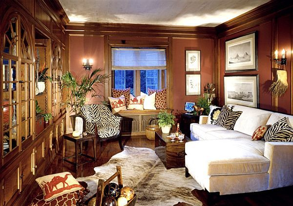 Decorating With A Modern Safari Theme African Living Rooms Safari Living Rooms African Themed Living Room