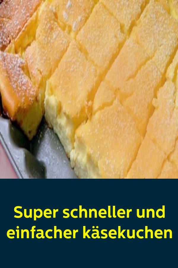 Super schneller und einfacher käsekuchen #simplecheesecakerecipe