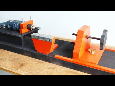 Homemade Woodworking Lathe Make A Drill Powered Wooden