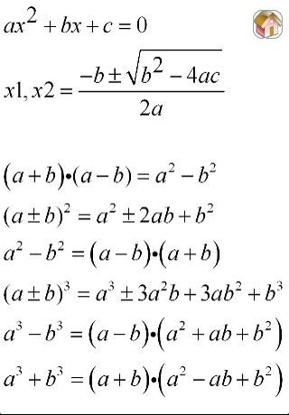 Formulae book maths
