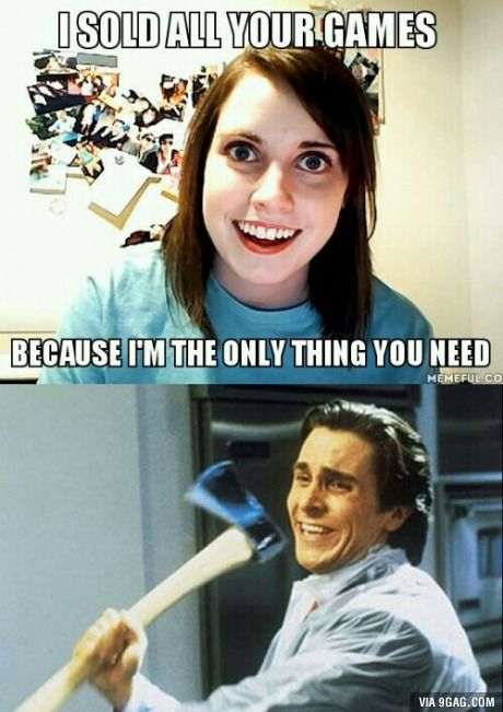 Sold Games From B Overly Attached Girlfriend Video Games For Kids Video Game Memes