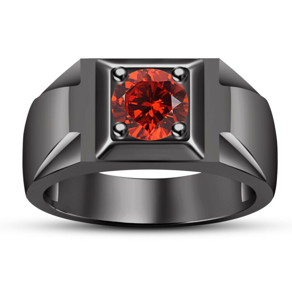 TVS-JEWELS Black Cubic Zirconia Wedding Five Stone Band Ring W//14k Rose Gold Plated Sterling Silver