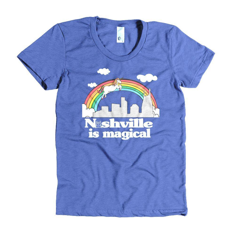 1b16b69b8cc Nashville is Magical Women s t-shirt Fitted. MFN MONSTER Women s short  sleeve ...