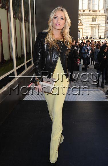 Laura Whitmore arriving Somerset House during London Fashion Week - Feb 19, 2013 - Photo: Runway Manhattan/Bauer-Griffin