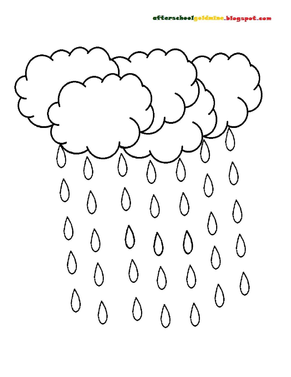 raindrops coloring pages for toddlers | clouds+and+raindrops.jpg 1,236×1,600 pixels | Noah Returns ...