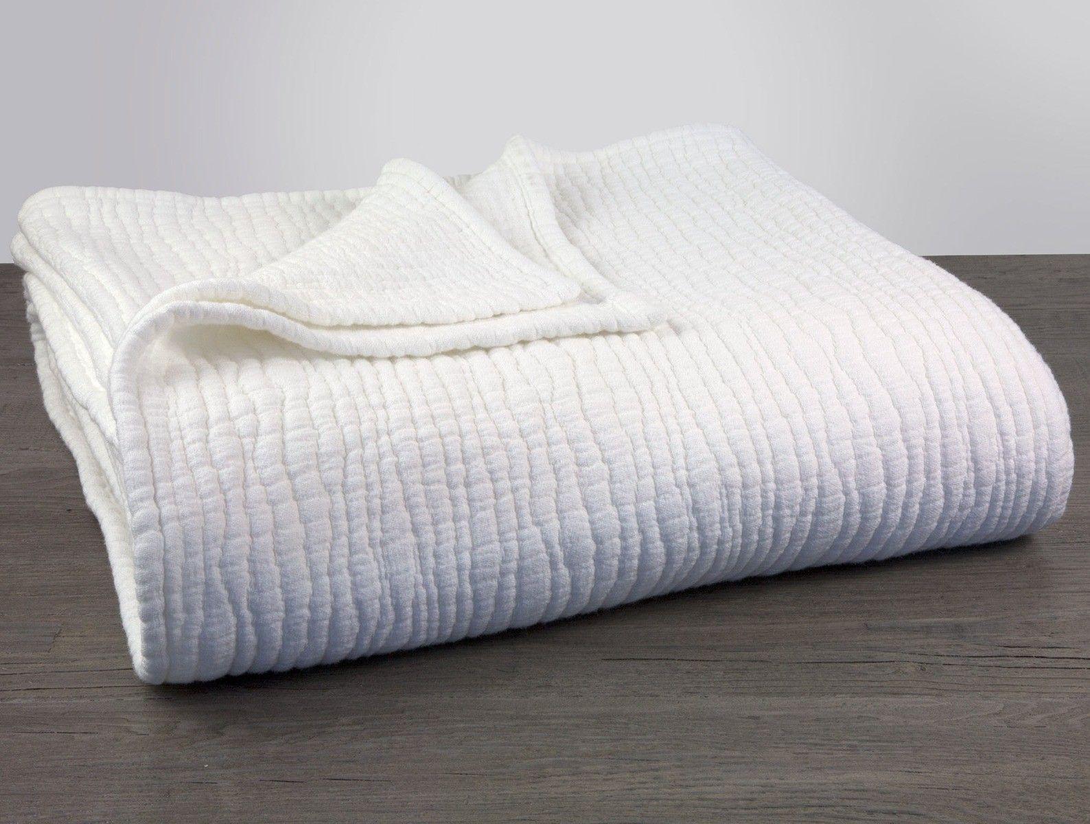 Coyuchi Wave Matelasse Baby Blanket Gray Chambray In 2020 Blanket Alpine White Waves
