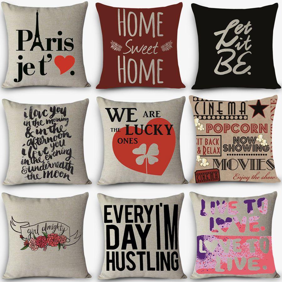 High quality cheap pillows LOVE words Print Home Decorative ...