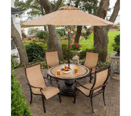 Hanover Monaco 5 Piece Outdoor Dining Set