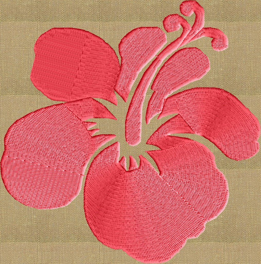 Hawaiian Flower EMBROIDERY Design FILE Instant