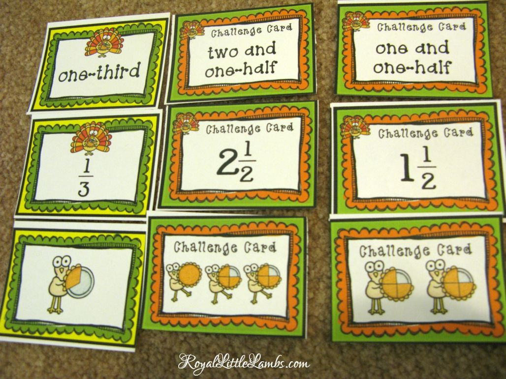 Thanksgiving Turkey Fractions Math