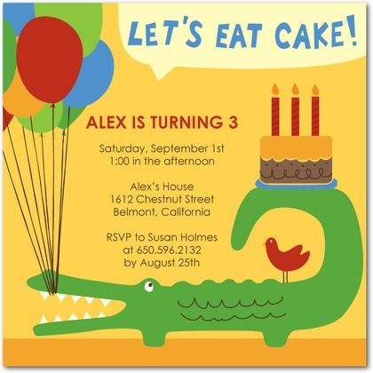 Image detail for crocodile fans this vibrant and colorful reptile – Reptile Invitations Birthday