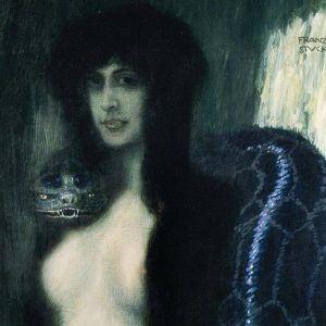 Franz von Stuck, Il peccato, 1893, olio su tela, Neue Pinakothek, Monaco di Baviera