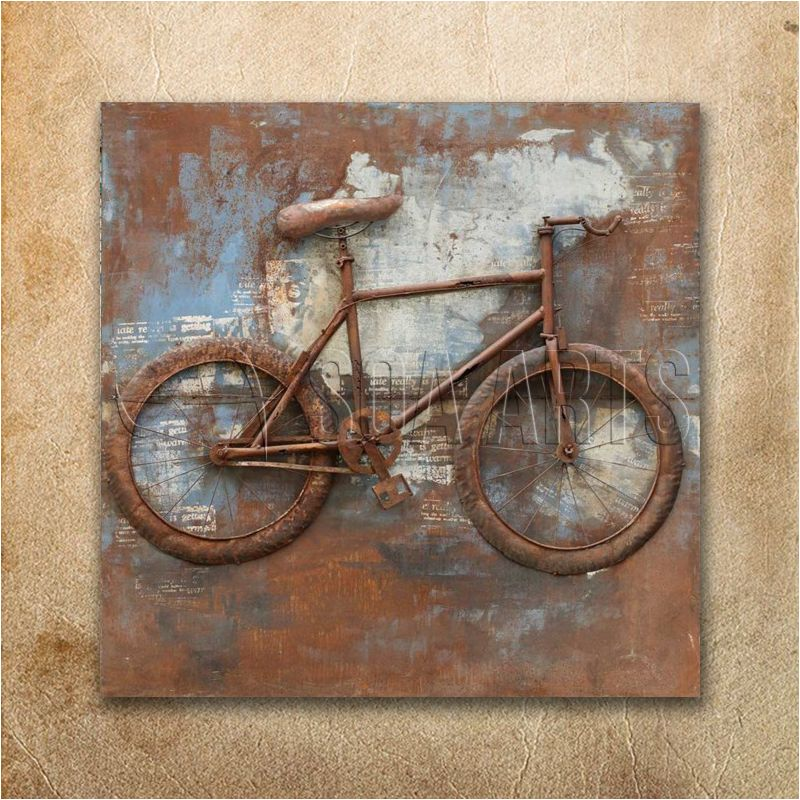Rustic Square 3d Vintage Bicycle Wall Art For Room Decor View Rustic 3d Bicycle Painting Soa Arts Product Details From Shenzhen Soa Arts Co Ltd On Alibaba Bicycle Wall Art Bicycle Painting