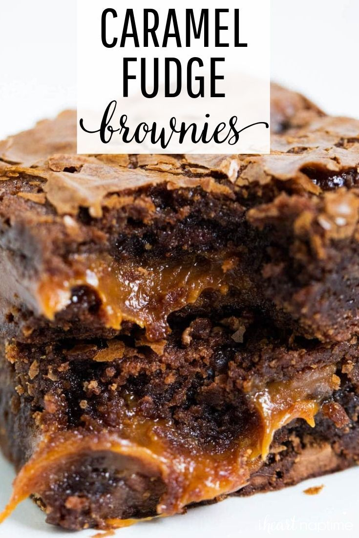 Chocolate Fudge Caramel Brownies -   -