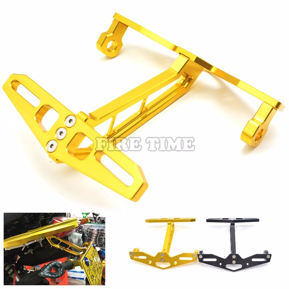 motorcycle accessories license plate frame with a steering lamp ...
