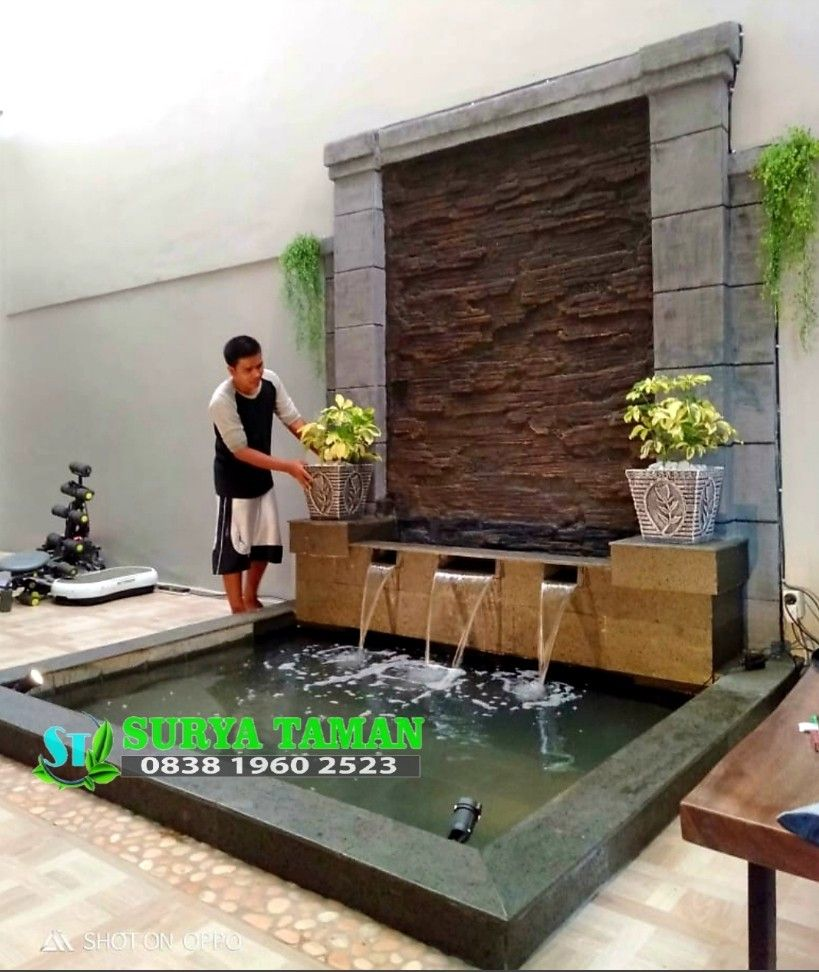 Kolam Minimalis 0838 1960 2523 Water Features In The Garden Backyard Pool Designs Outdoor Wall Fountains Air terjun dinding minimalis