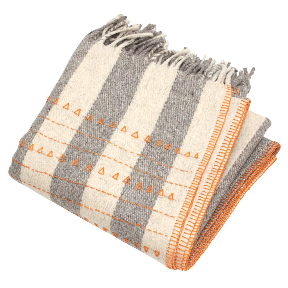 Wolldecke Orange Wolldecke Deckchen