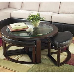 Nebraska Furniture Mart Ashley Round Glass Coffee Table With 4