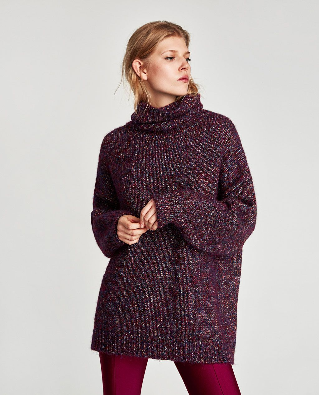 a0e7a5e860b Image 4 of OVERSIZE SHIMMER SWEATER from Zara
