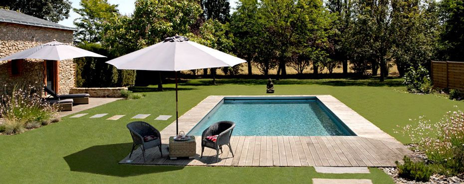 am nagement de la piscine avec terrasse bois pool pinterest piscine caron piscines et. Black Bedroom Furniture Sets. Home Design Ideas