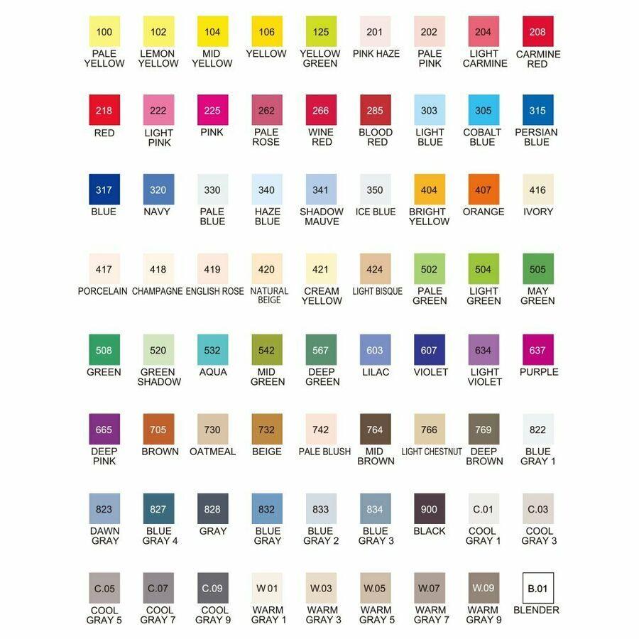 Kuretake Oil Based Pen Zig Kurekara Twin Marker Ws 72 Colors Kc 3000n 72v Ad Ad Pen Zig Kurekara Kuretake Markers Zig