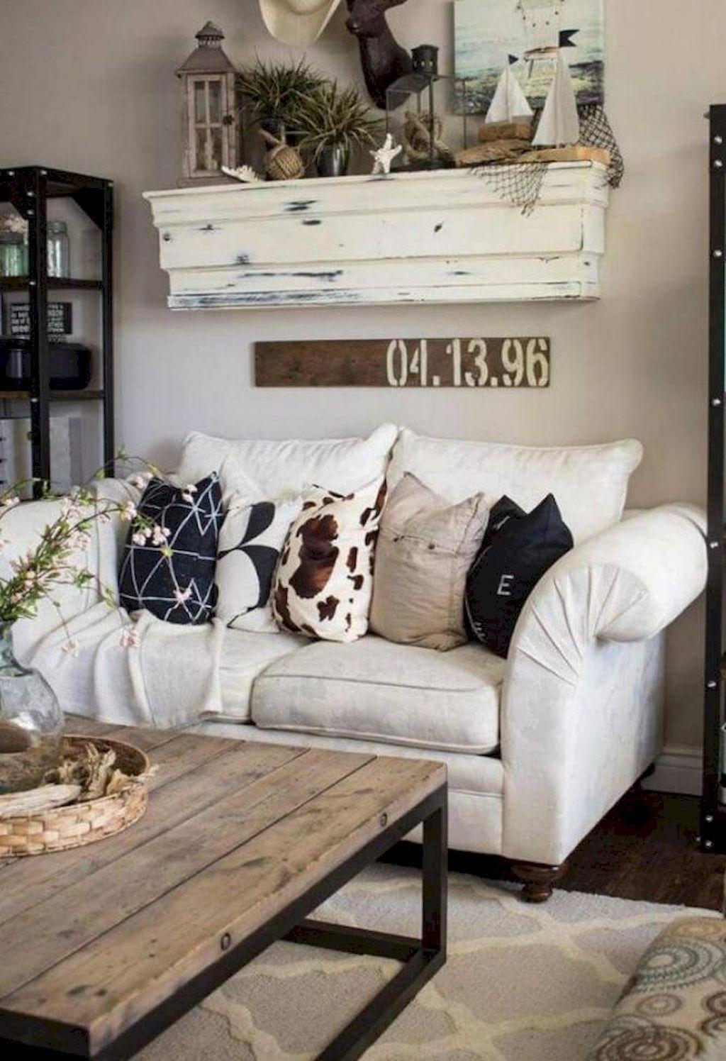 64 Cozy Farmhouse Living Room Decor Ideas images