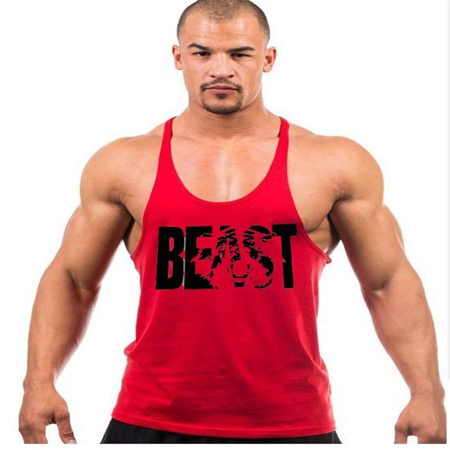 d3c1e8e450659 Mens ClothingTank Top Thin Strap Fitness Men BEAST Bodybuilding Vest  Stringer Singlets Suit T-shirt